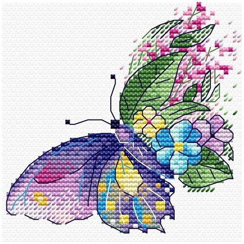 Купить Набор для вышивания М.П.Студия В №03 вышивка на одежде №539 Цветочный полет 10 х 10 см 1 шт., Жар-птица, Наборы для вышивания
