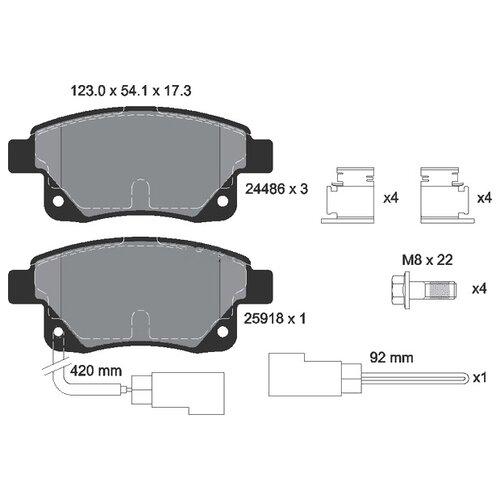Фото - Дисковые тормозные колодки задние Textar 2448601 для Ford Transit, Ford Transit Tourneo (4 шт.) дисковые тормозные колодки задние trw gdb1938 для ford c max ford focus ford kuga ford transit connect 4 шт