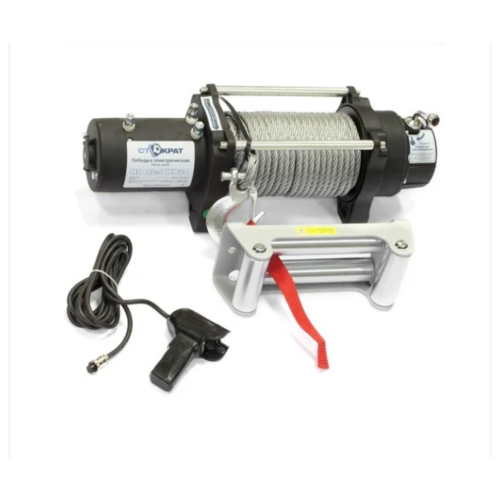 Лебедка электрическая автомобильная стократ SD 12.5 SW24, 24V, 6.0 л.с.