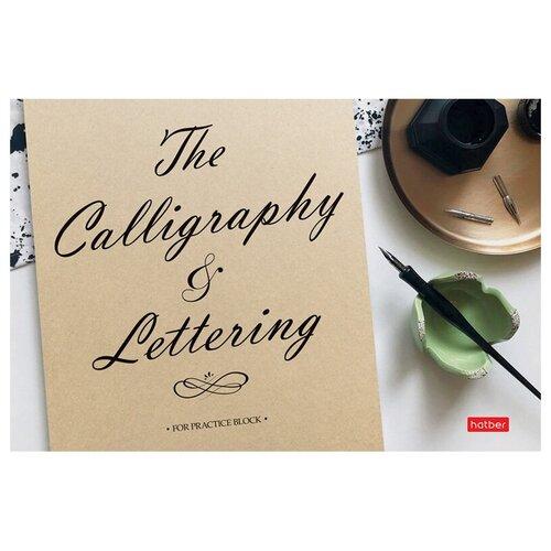 Купить Скетчбук-тетрадь для каллиграфии и леттеринга 48л., А5 на скрепке Hatber Пиши легко! , 100г/м2, матовая ламинация, 5 шт. в упаковке, Тетради
