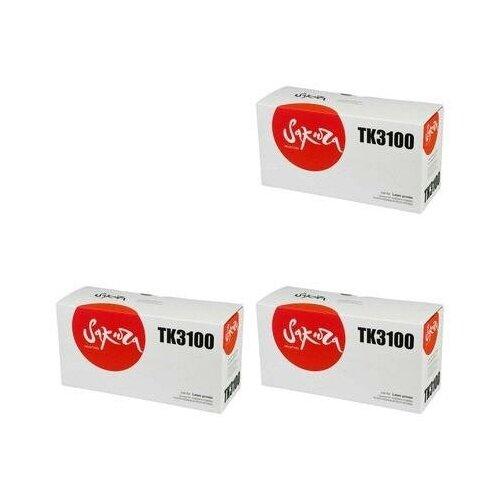 Sakura SATK3100-3PK Картриджи комплектом TK-3100 черный 3 упаковки, совместимый [выгода 3%] Black 37К для Ecosys M3040dn M3040, M3540dn M3540, M3550idn M3550, FS-2100D FS-2100, FS-2100DN