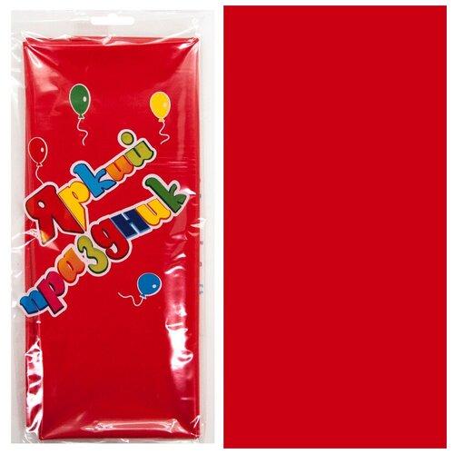 Скатерть ПЭТ, Яркий праздник, Красный, 120*180 см, 1 шт.