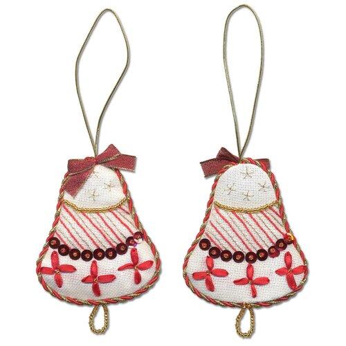 Купить Набор для вышивания PANNA IG-1271 ( ИГ-1271 ) Новогодняя игрушкаКолокольчик 1 шт., Наборы для вышивания