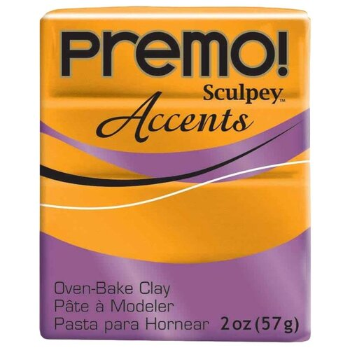 Купить Полимерная глина Sculpey Premo, цвет - 5303 под золото, 57 г, Глина