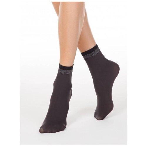 Капроновые носки Conte Elegant Fantasy 19С-26/1СП, размер 23-25, grafit