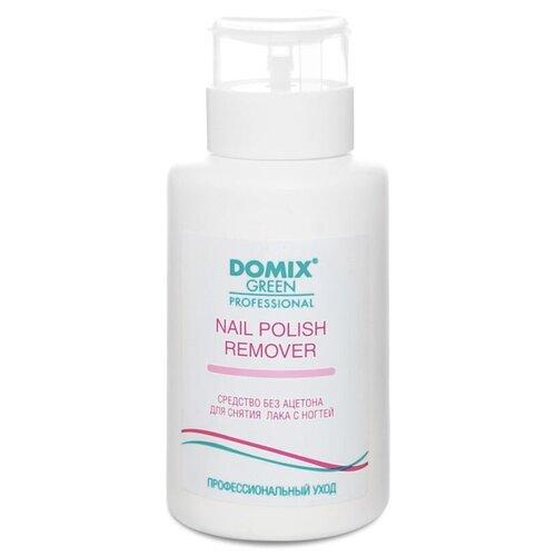 Купить Domix Green Professional Nail Polish Remover Non Aceton Formula Средство для снятия лака с ногтей без ацетона 255 мл с дозатором