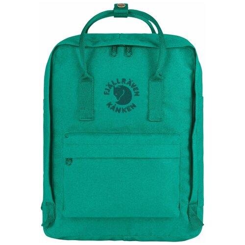 Городской рюкзак Fjallraven Re-Kånken 16, emerald городской рюкзак fjallraven re kånken 16 un blue