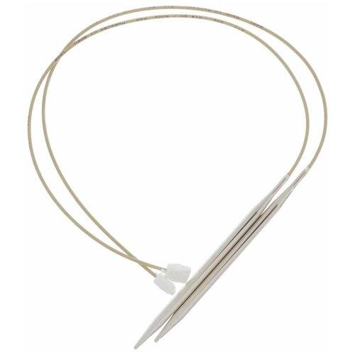 Купить Спицы ADDI с фиксаторами на лесках 181-7/6-50, диаметр 6 мм, длина 50 см, серебристый