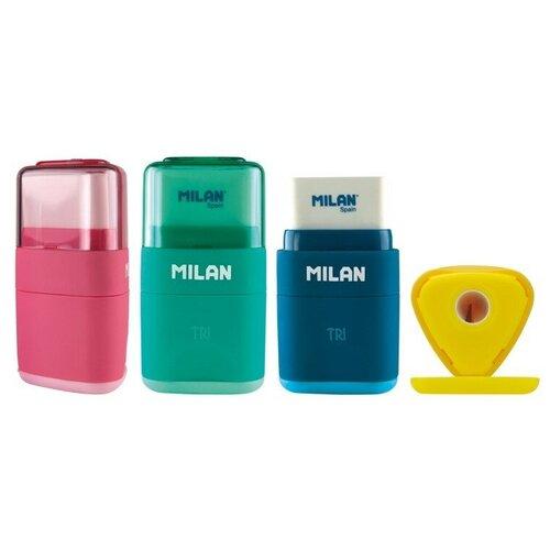 Купить Ластик-точилка Milan TRI, пластик, цвет в ассорт. 4700116, Ластики