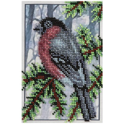 Купить Klart Набор для вышивания бисером Снегирь на ветке 12 x 17 см (8-136), Наборы для вышивания