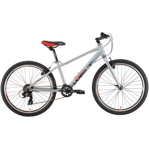 Подростковый горный (MTB) велосипед Welt Peak 24 R (2021) metal grey (требует финальной сборки) горный mtb велосипед kellys desire 90 2019 grey green m требует финальной сборки