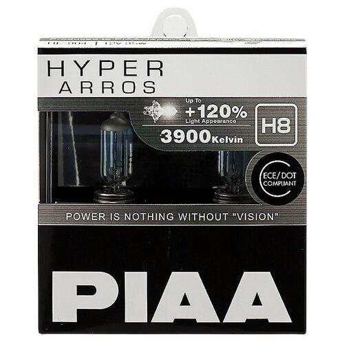 Лампа автомобильная галогенная PIAA Hyper Arros (HE-904-H8) H8 12V 35W 2 шт.