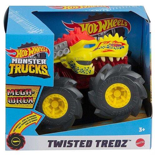 Монстр-трак Hot Wheels Monster Trucks Mega-Wrex 1:43, красный/желтый/черный