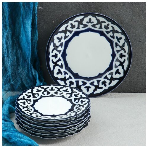 Набор для блинов Пахта, 7 предм., тарелка 22см, 6 тарелок 17,5см 4855449
