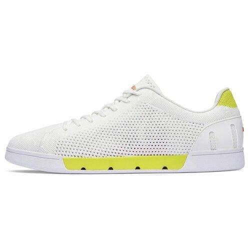 Мужские кроссовки SWIMS Breeze Tennis Knit цвет White/Limeade размер 44