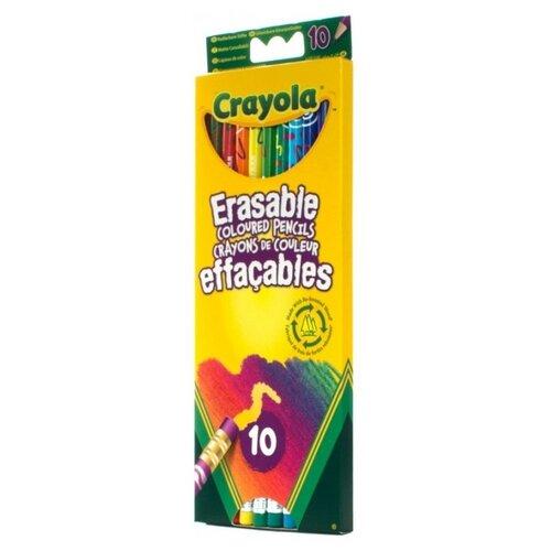 Купить Crayola Цветные карандаши с корректорами Erasable, 10 цветов (3635)
