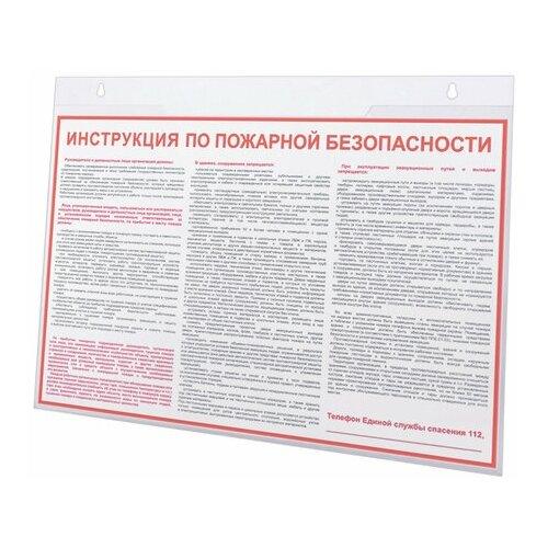 Подставка настенная для рекламных материалов большого формата (420х297 мм), А3, горизонтонтальная, BRAUBERG, 290431 290431