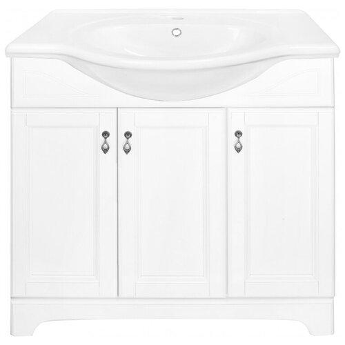 Фото - Тумба для ванной комнаты с раковиной Orange Классик F7-85TU3, ШхГхВ: 87х50х85 см, цвет: белый тумба для ванной комнаты с раковиной am pm like напольная шхгхв 80х45х85 см цвет белый глянец