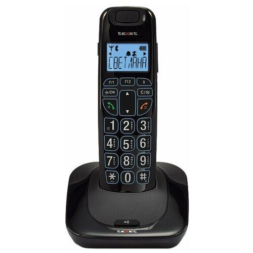 Фото - Радиотелефон teXet TX-D7505A черный радиотелефон texet tx d4505a черный