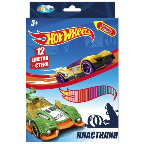 Пластилин CENTRUM Hot Wheels 12 цветов (88620)