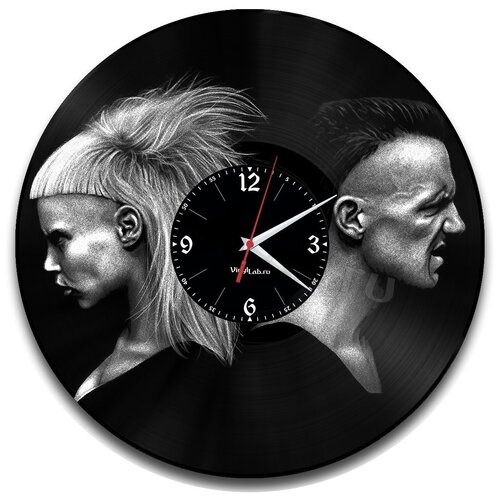 Часы из виниловой пластинки (c) VinylLab Die Antwoord