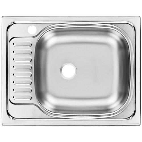Врезная кухонная мойка 56 см, UKINOX Classic CLM560.435 ---5K 1R, матовая нержавеющая сталь