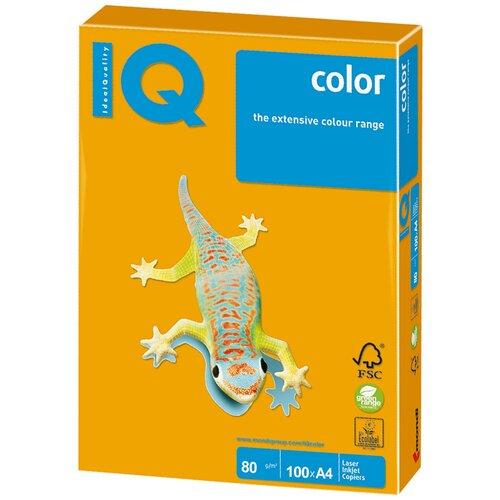 Фото - Бумага IQ Color A4 80 г/м² 100 лист., старое золото AG10 бумага iq color a4 80 г м² 250 лист 5 цв х 50 л тренд rb03