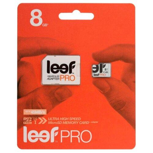 Фото - Карта памяти Leef PRO microSDHC Class 10 UHS-I U1 + SD adapter 8 GB, чтение: 45 MB/s, адаптер на SD карта памяти leef pro microsdhc class 10 uhs i u1 sd adapter 8 gb чтение 45 mb s адаптер на sd
