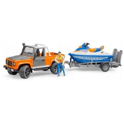Набор техники Bruder Ram с водным мотоциклом (02-599) 1:16, оранжевый/голубой/серый недорого