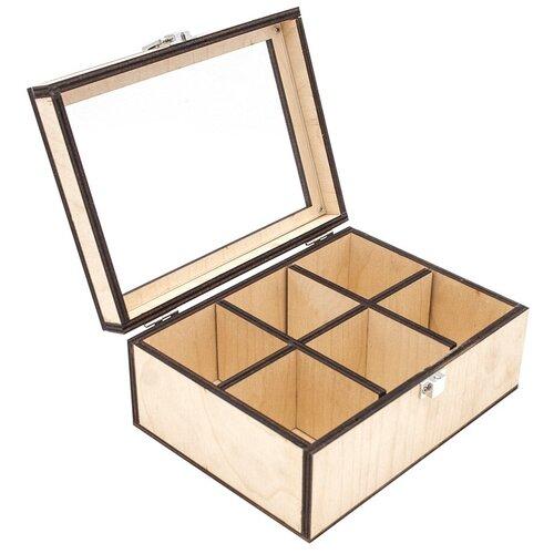 Купить Astra & Craft Деревянная заготовка для декорирования Шкатулка Ф-56/3 бежевый, Декоративные элементы и материалы
