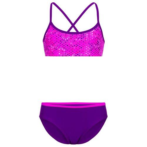 Купить Купальник двухпредметный для девочек, ALIERA, К 21.30, размер 128-134, розовый, Белье и купальники