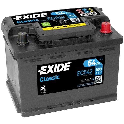 Автомобильный аккумулятор Exide Сlassic EC542
