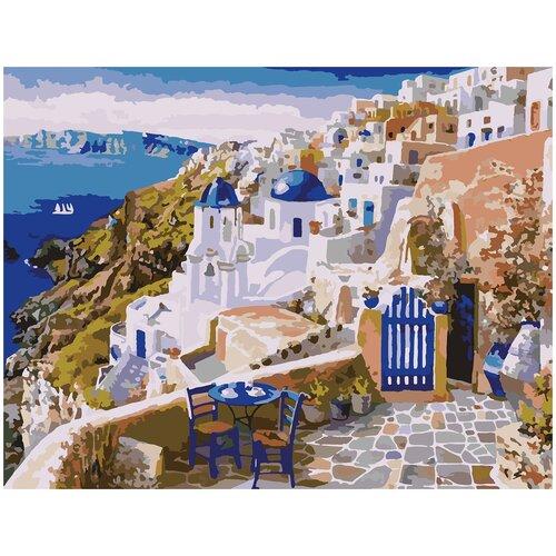 Купить Картина по номерам Санторини, 30 х 40 см, Красиво Красим, Картины по номерам и контурам