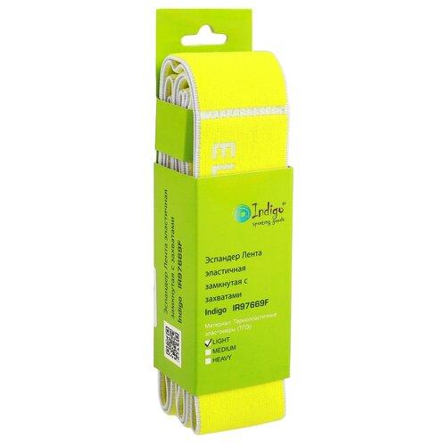 Резина для растяжки всех групп мышц с петлями LIGHT, 90*4 cм, цвет желтый 3677965