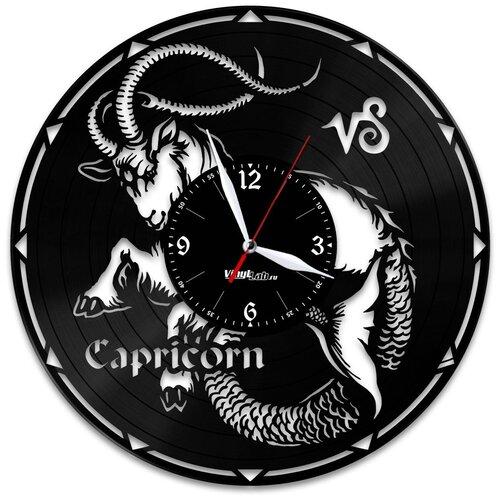 Часы из виниловой пластинки (c) VinylLab Знак зодиака «Козерог»