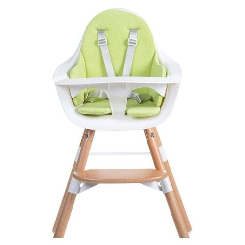 Стульчик для кормления Childhome Evolu ONE.80° с подушкой, Natural White/Lime