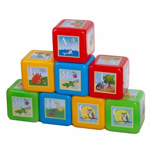 Кубики Юг-Пласт XL азбука 8 деталей пластик Юг-Пласт
