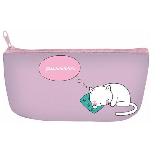 Купить Пенал на молнии CAT'S DREAMING , силикон, 20 х 9 х 3, 5 СМ, Bruno Visconti, Пеналы