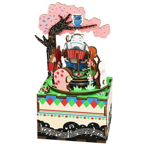 Купить Деревянный 3D конструктор - музыкальная шкатулка Robotime Forest Concert - AM404, Сборные модели