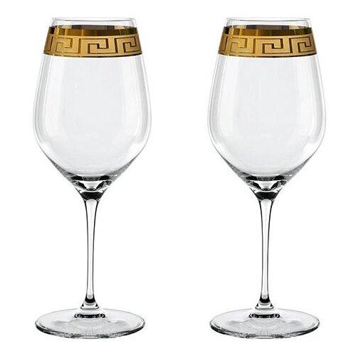 Набор фужеров Bordeaux Muse, 810 мл, 2 предмета, бессвинцовый хрусталь, прозрачный/золото, Nachtmann набор фужеров nachtmann 2 предмета bordeaux 98062