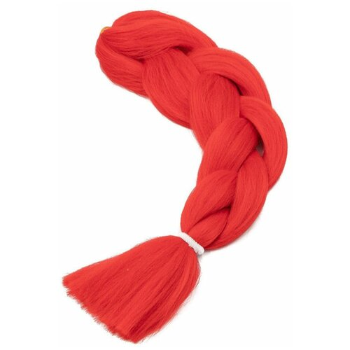 Канекалон , накладные пряди, накладные волосы , красный