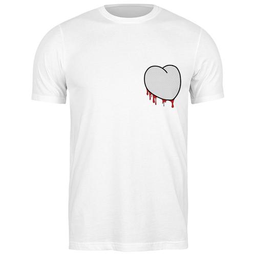 Футболка классическая Вырезанное сердце 2 #2164137 (цвет: БЕЛЫЙ, пол: МУЖ, качество: ЭКОНОМ, размер: L) printio футболка классическая вырезанное сердце 2