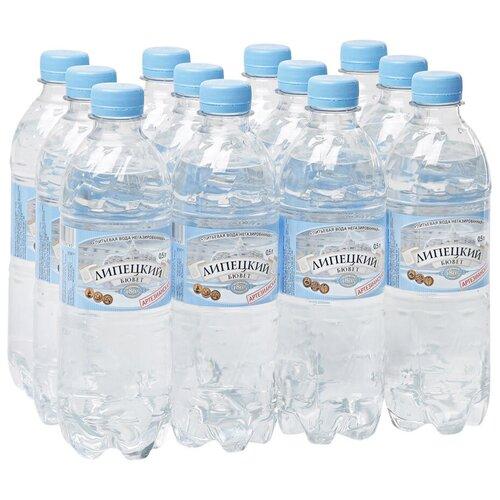 Вода питьевая Липецкий Бювет негазированная, ПЭТ, 12 шт. по 0.5 л