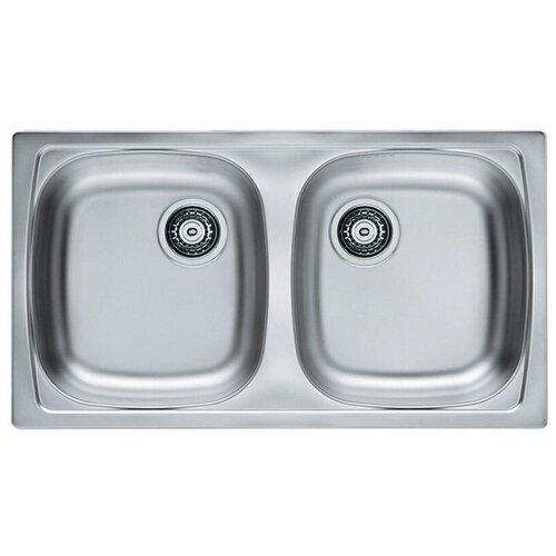 Врезная кухонная мойка 78 см ALVEUS Basic 160 нержавеющая сталь/leinen кухонная мойка alveus basic 130 1008825 нержавеющая сталь