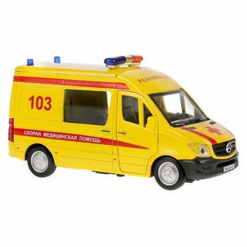Машина Технопарк Mercedes-benz sprinter Реанимация 300437 микроавтобус технопарк mercedes benz sprinter реанимация sprinter 22pl rean 22 см желтый