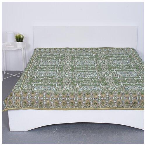 Покрывало, Вселенная Текстиля, гобелен Восточный (укр.) зеленый, 200х210 см