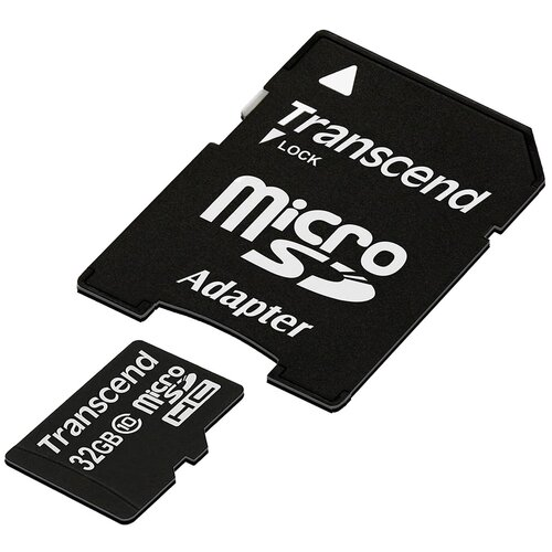 Фото - Карта памяти Transcend TS*USDHC10 32 GB, чтение: 30 MB/s, адаптер на SD карта памяти transcend ts usdu1 32 gb адаптер на sd