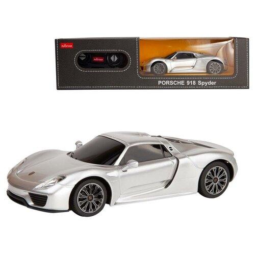 Купить Машина р/у 1:24 PORSCHE 918 Spyder Цвет Серебряный 27MHZ, Rastar, Радиоуправляемые игрушки