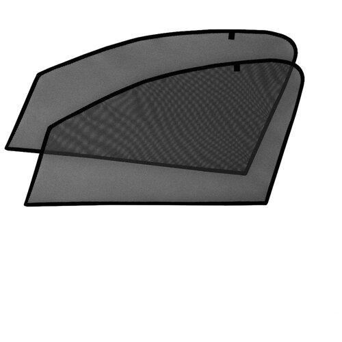Шторки на стёкла Cobra-tuning для RENAULT SANDERO 2014-, каркасные, На магнитах, Передние, боковые