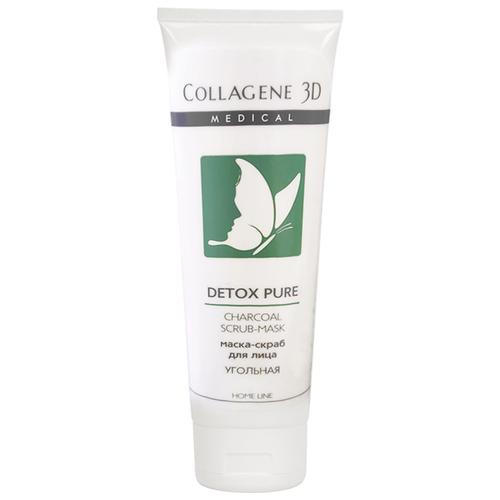 Купить Medical Collagene 3D маска-скраб для лица Home line Detox Pure угольная 75 мл